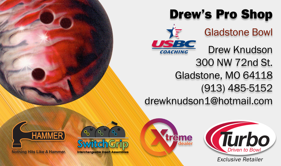 Drew's Proshop Business Card
